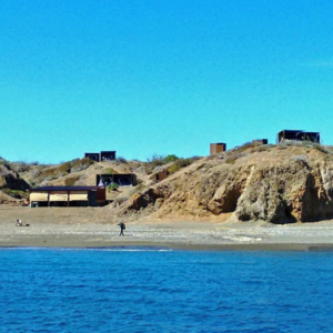 whale camp from pong Mag Bay Mexico