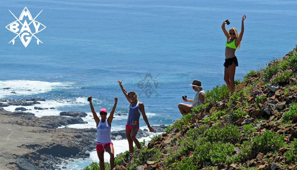 Girls celebrating, Mag Bay Mexico