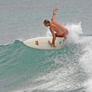 Surfer off the lip, Mag Bay Mexico