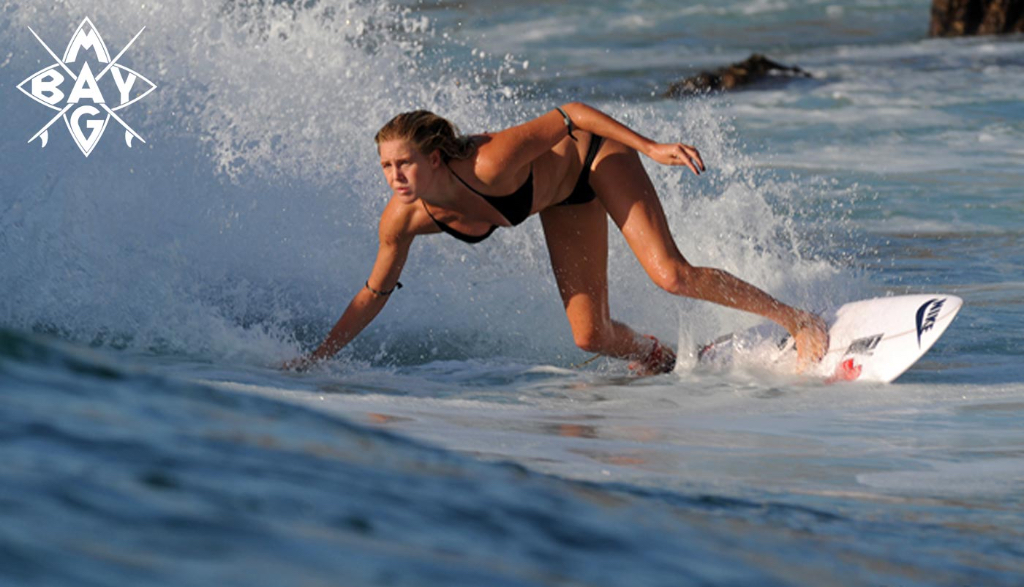 Cute Girl surfing, Mag Bay Mexico
