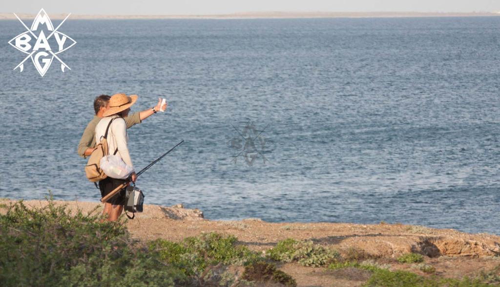 Fisherman looking at waves, Mag Bay Mexico