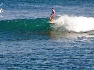 surfer riding the nose, Mag Bay Mexio