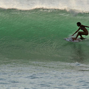 surfer in the tube, Mag Bay mexico