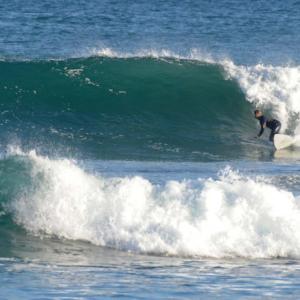 surfer bottom turn, Mag Bay mexico
