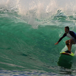 Longboard in the tube, Mag Bay Mexico