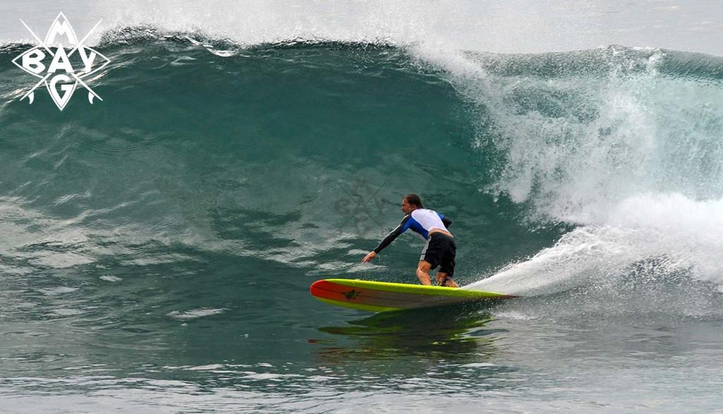 SUP bottom turn, Mag Bay Mexico