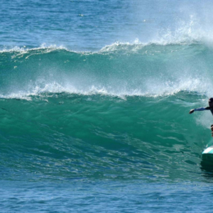 wave lines and surfer, Mag Bay Mexico