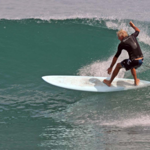 Long boarder down the line, Mag Bay Mexico