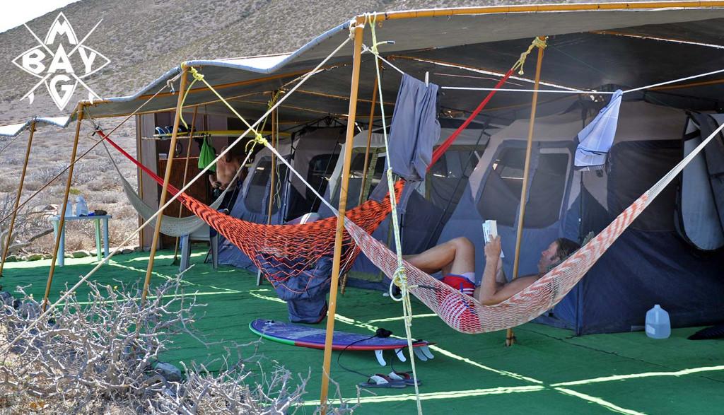 Men relaxing in Hammock, Mag Bay Mexico