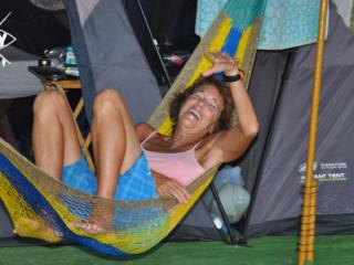 Girl in hammock, Mag Bay Mexico