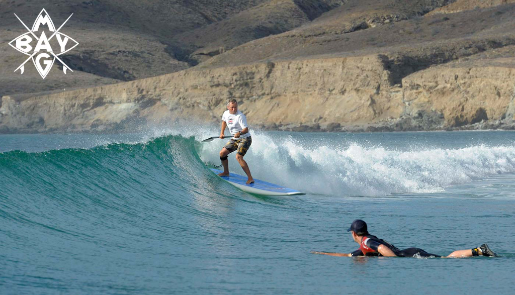 SUP on wave, Mag Bay Mexico