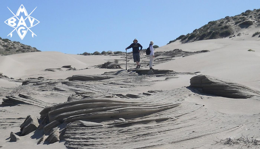 Sand dune formations, Mag Bay Mexico